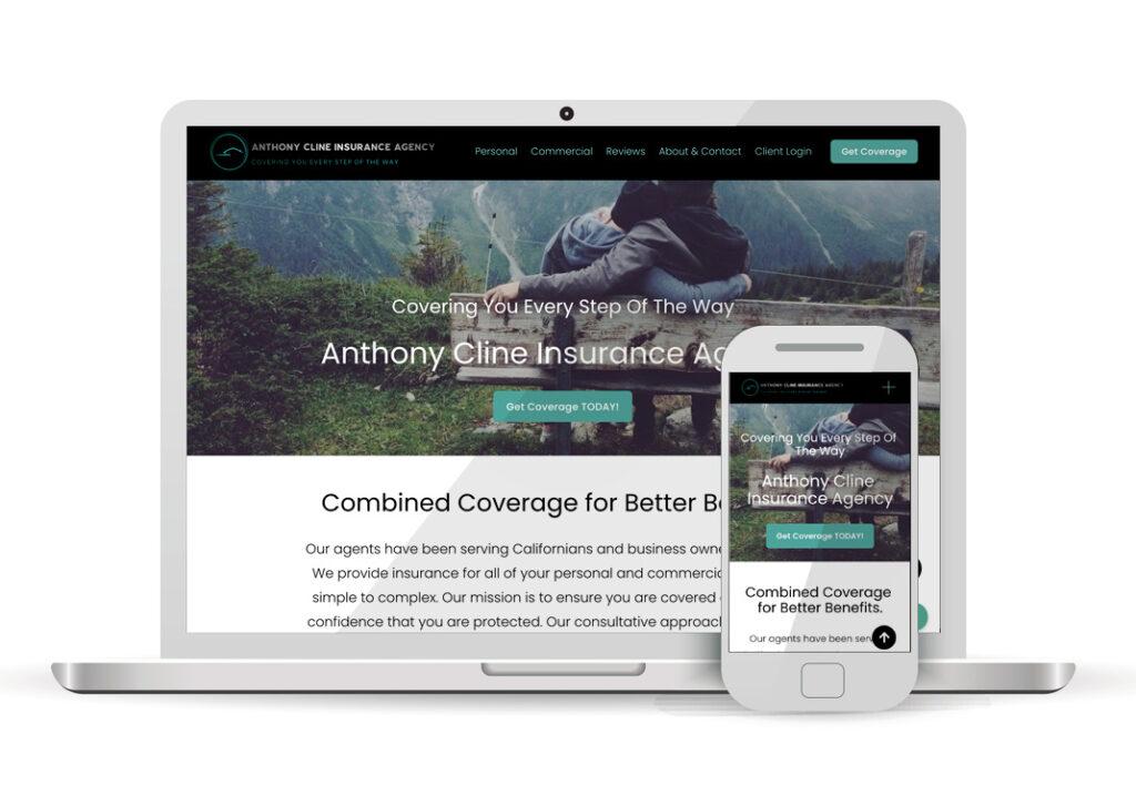 Client Portfolio Cline Insurance Agency Sacramento   Squarespace Website Design