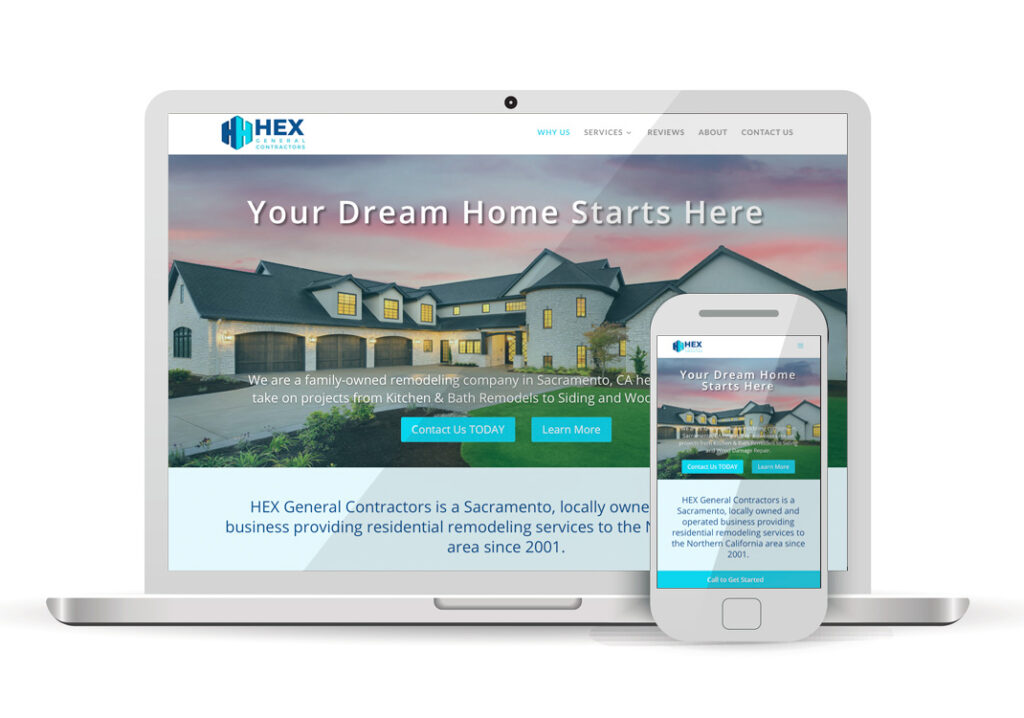 Client Portfolio Hex General Contractors Sacramento Wordpress Website Design