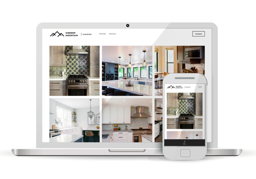Client Portfolio Modern Mountain Cabinetry Loomis | Squarespace Website Design