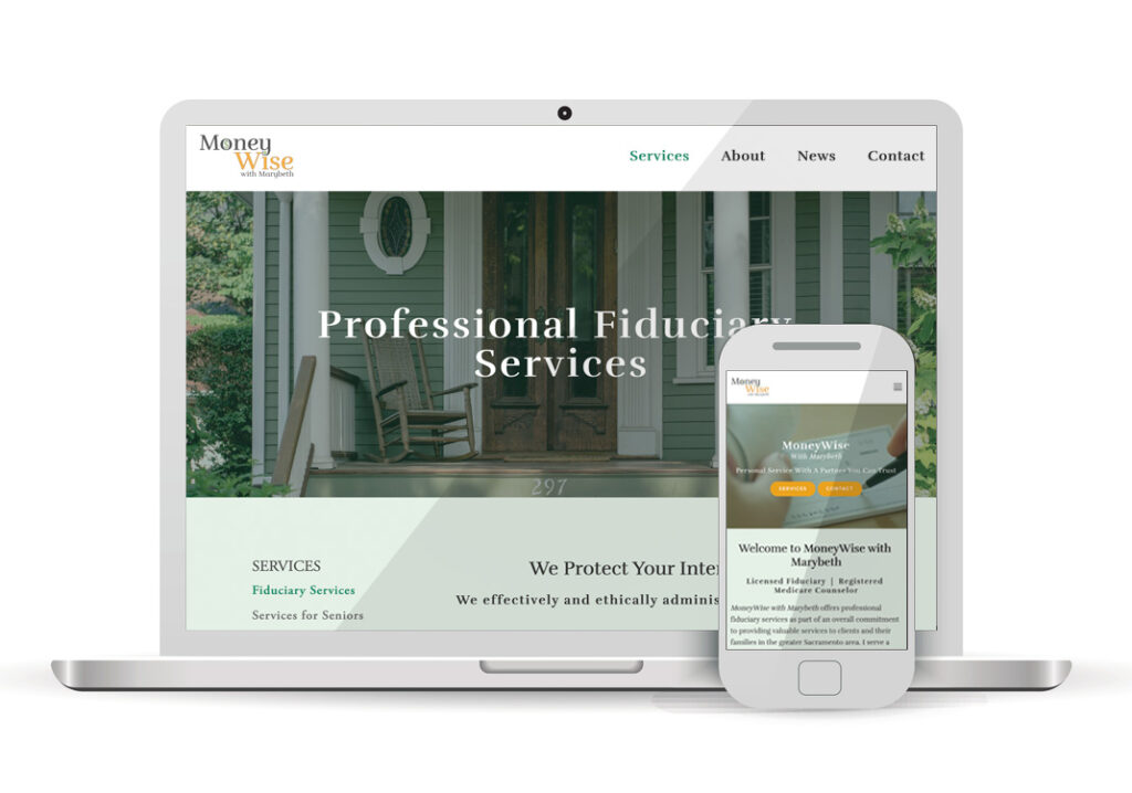 Client Portfolio MoneyWise with Marybeth Sacramento | Squarespace Website Design