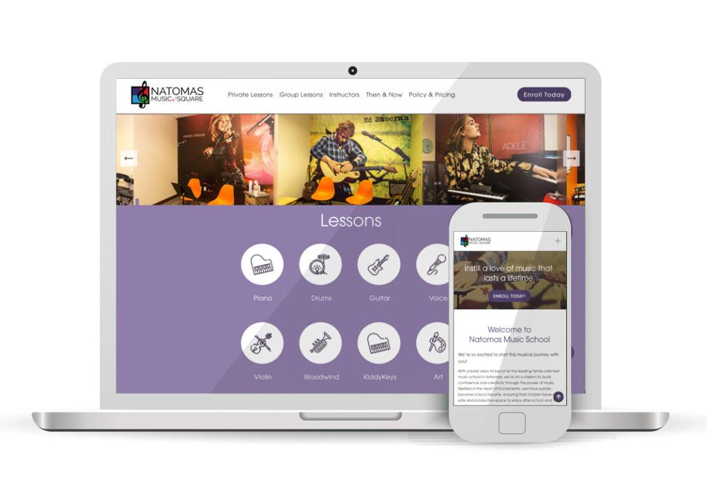 Client Portfolio Natomas Music Square Redesign Natomas   Squarespace Website Design