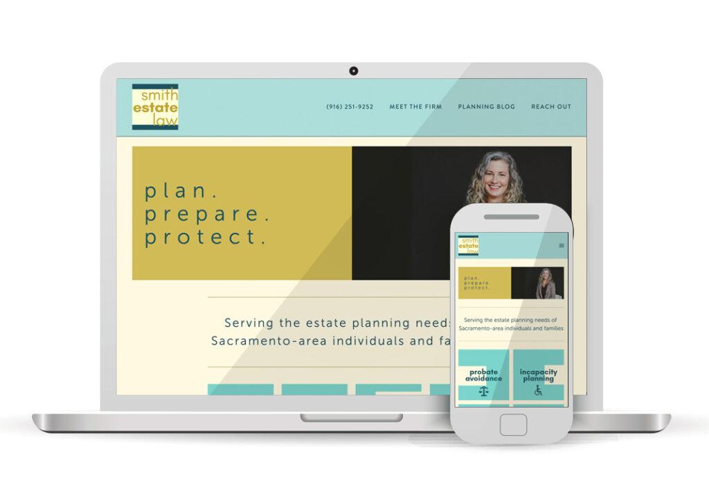 Client Portfolio Smith Estate Law Sacramento | Squarespace Website Design